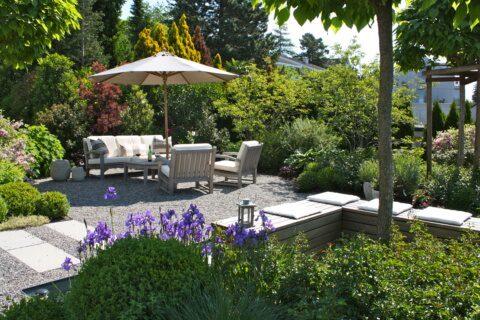 Wohlfühl-Sitzplatz Gartengestaltung