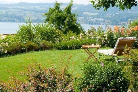 Garten mit üppiger Bepflanzung