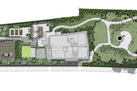 Konzeptplan Gartenkonzept Gartengestaltung