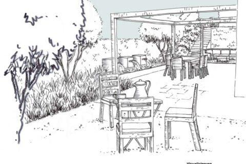 Visualisierung Gartenkonzept Gartenumgestaltung