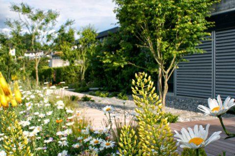 Privatgarten mit Holzdeck Rapperswil