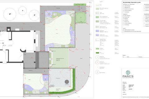 Pflanzplan Gartenumgestaltung Einfamilienhaus