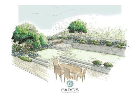 Visualisierung Gartenumgestaltung